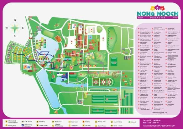 Карта сада Нонг Нуч