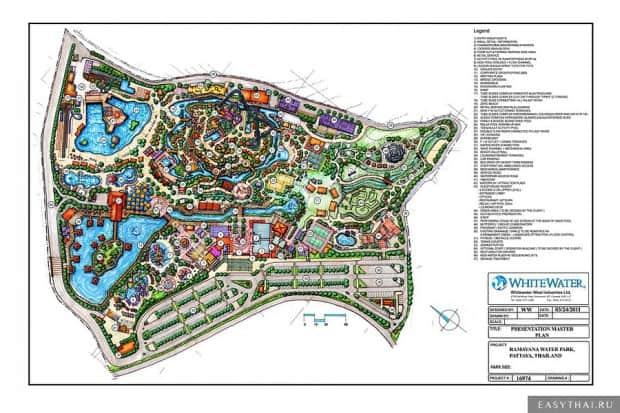 Карта аквапарка Рамаяна