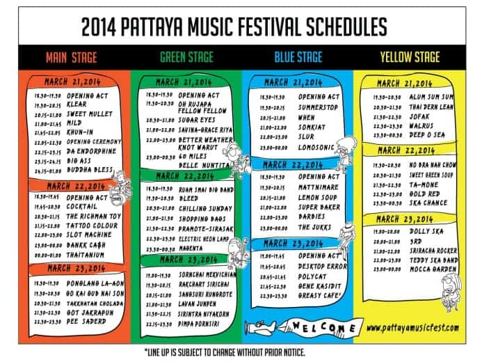 Музыкальный фестиваль в Паттайе 2014