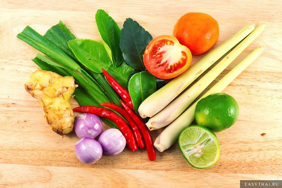 Ингредиенты для приготовления Том Яма