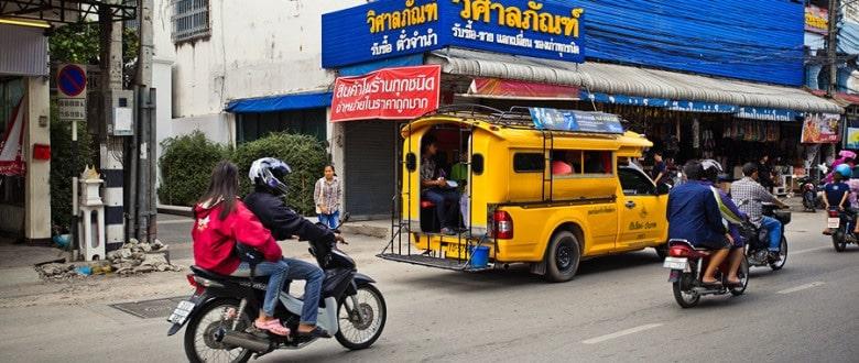 Пригородные сонгтео в Таиланде