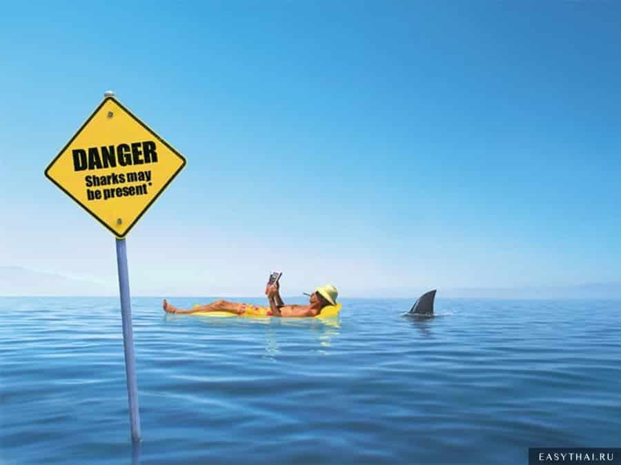 Предупреждающие знаки на воде
