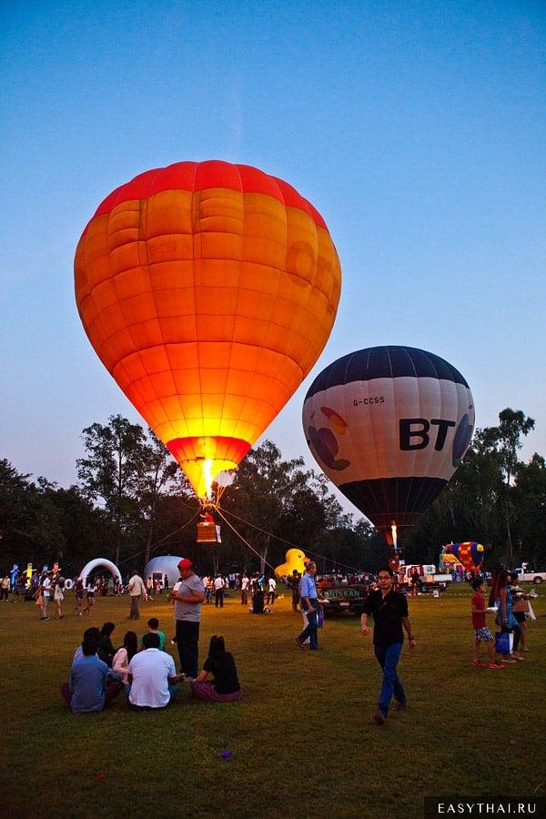Фестиваль воздушных шаров в Чиангмае