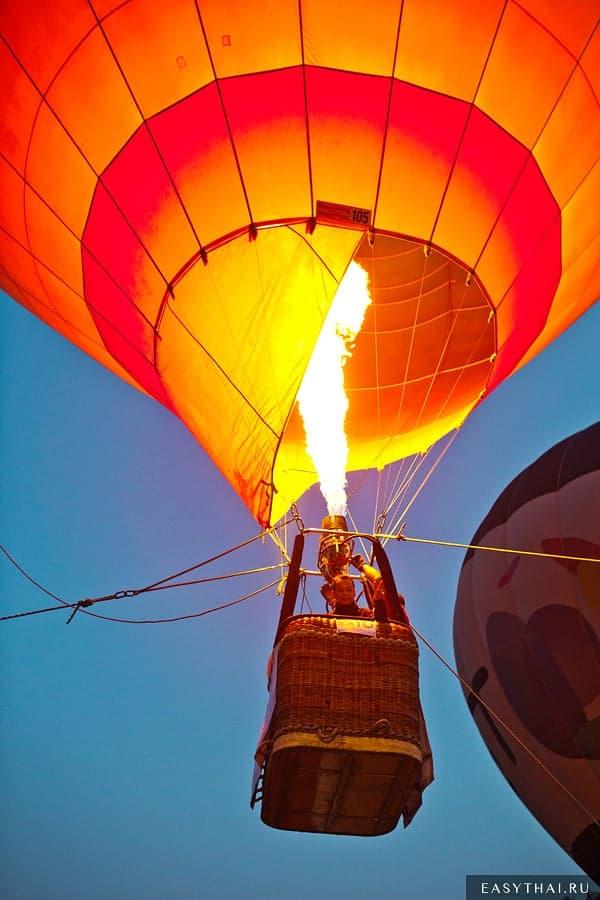 Большой воздушный шар в воздухе