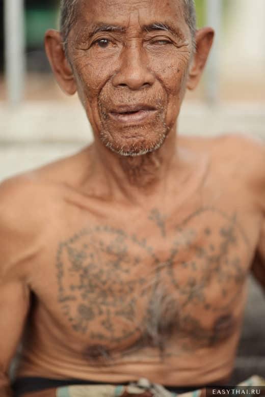 Пожилой таец в Бангкоке