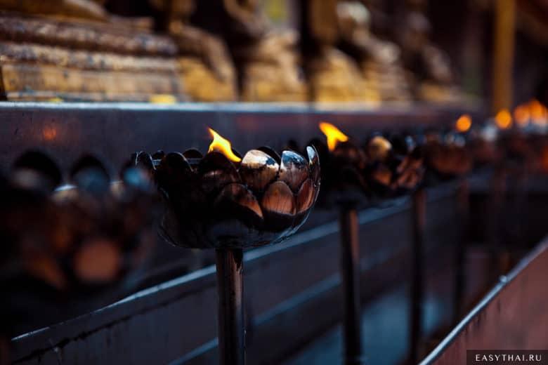 Лампады в храме