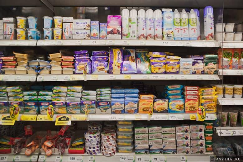 Сыр в ассортименте в Теско Лотус