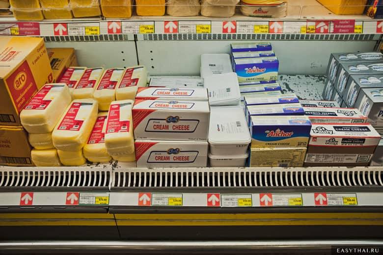 Сыр в магазине Макро