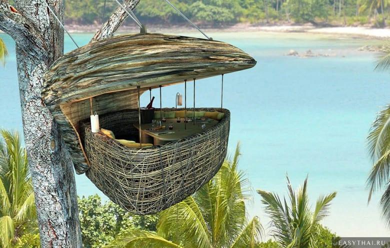Ресторан на дереве Soneva hotel