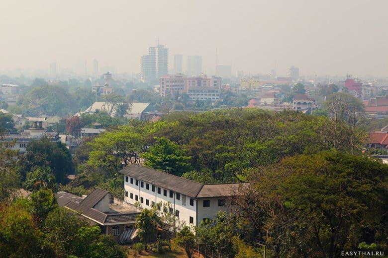 Смог в городе Чиангмай