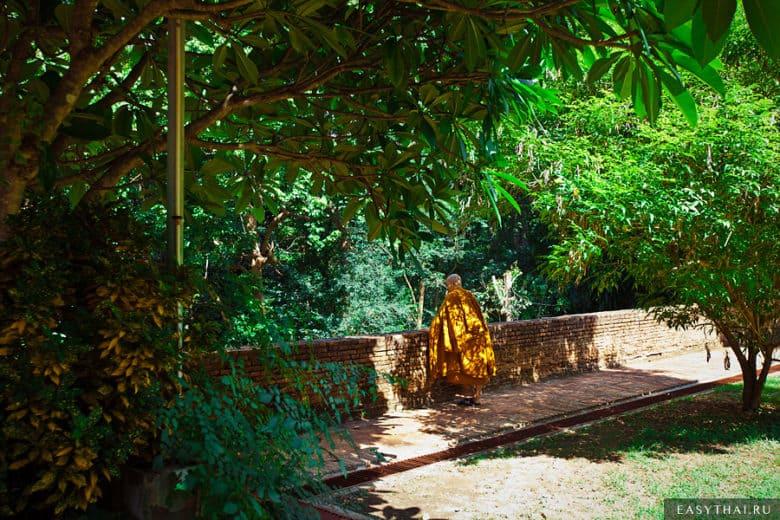 тайский монах с мобильным