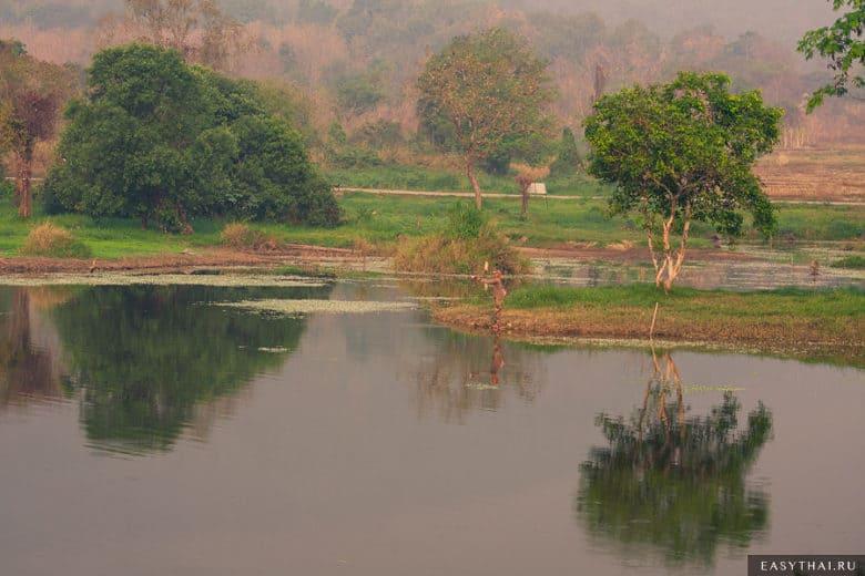 Рыбак на чиангмайском озере