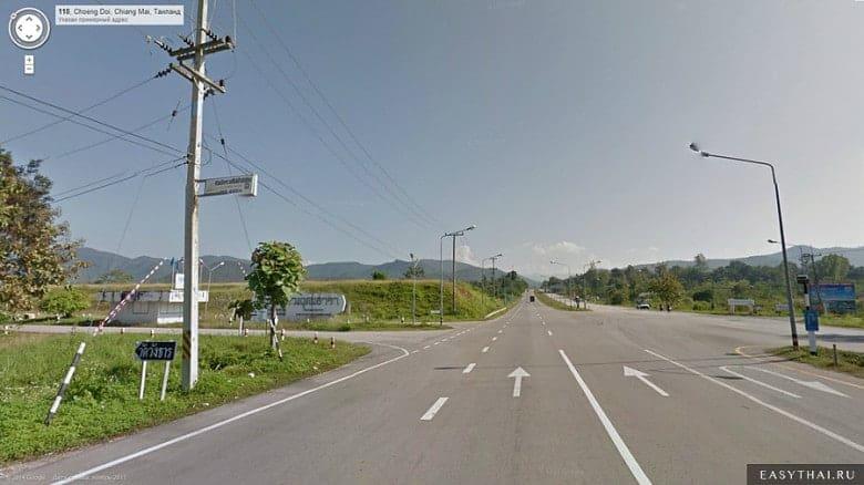Дорога к озеру Mae Kuang Dam