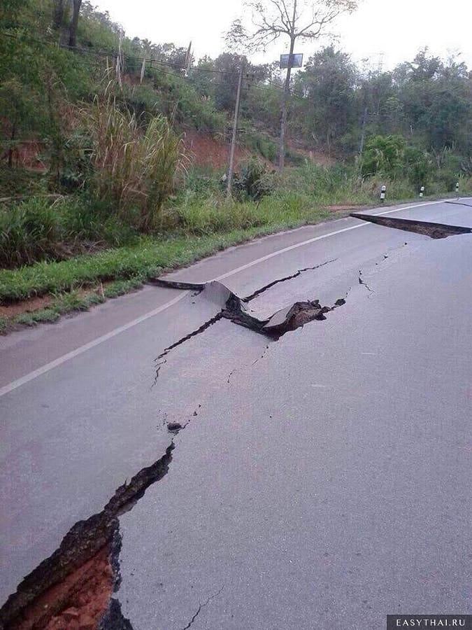 Последствия землетрясения в Таиланде